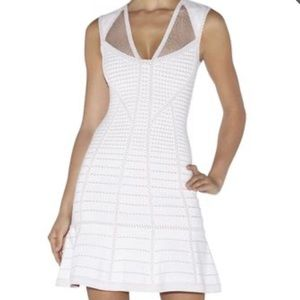 Herve Leger Natalija Mesh Dress